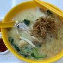Mixed Fish Yee Mee Soup  $6