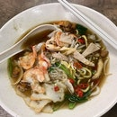 蝦麵湯  $4