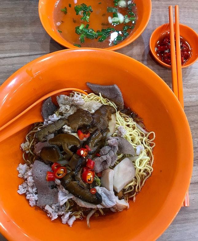 香菇肉脞麵  $5