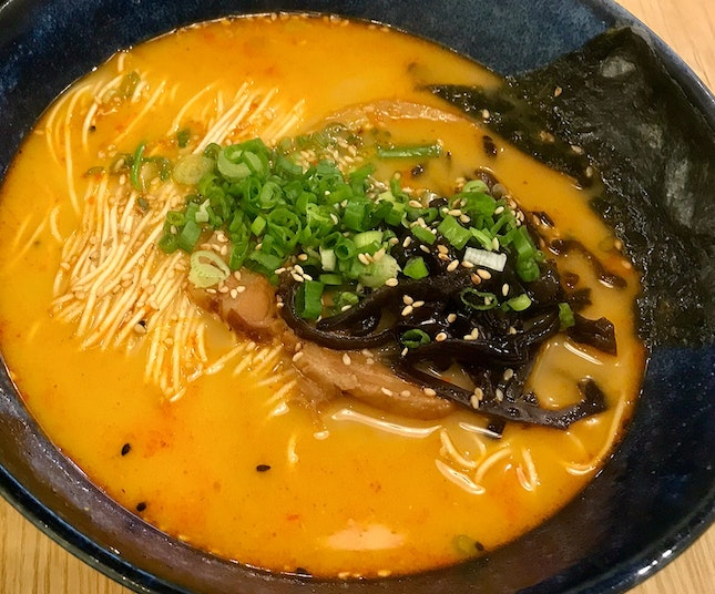 Flaming Hot Tonkotsu Ramen  $14.90