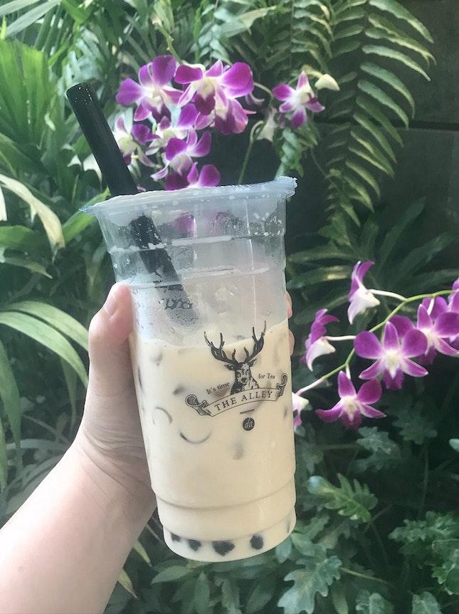 皇家九號奶茶+珍珠  $5.40