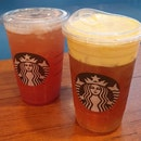 Strawberry Green Tea Lemonade & Mango Passion Fruit Cold Foam Black Tea  $6.80