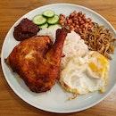 Nasi Lemak Ayam Goreng Berempah  $12.80