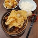 砂鍋肉骨茶 (肋骨/豬尾/豬腳+腐竹)  $15.70