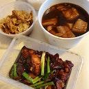 嘉賓肉骨茶 (湯) | 花雕雞 | 腐竹 | 白飯  $22.11