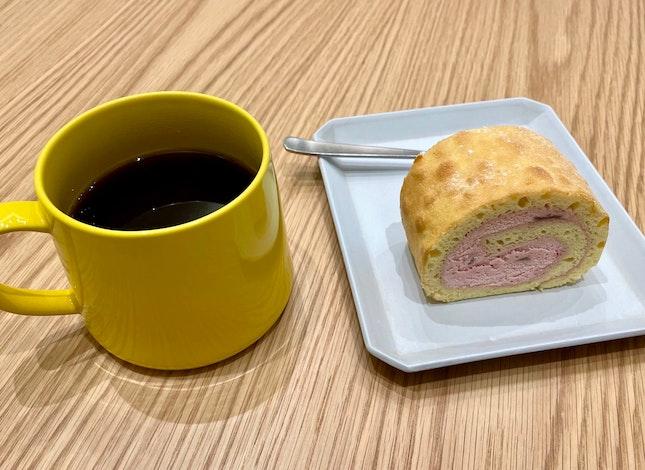 Single Origin Hand Drip Coffee | Raspberry Swiss Roll  $14