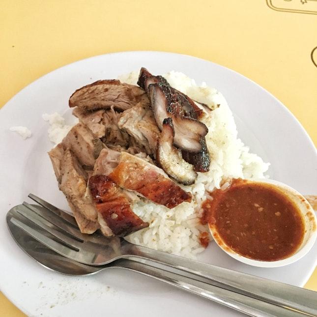 Charsiew + Duck Rice ($3)