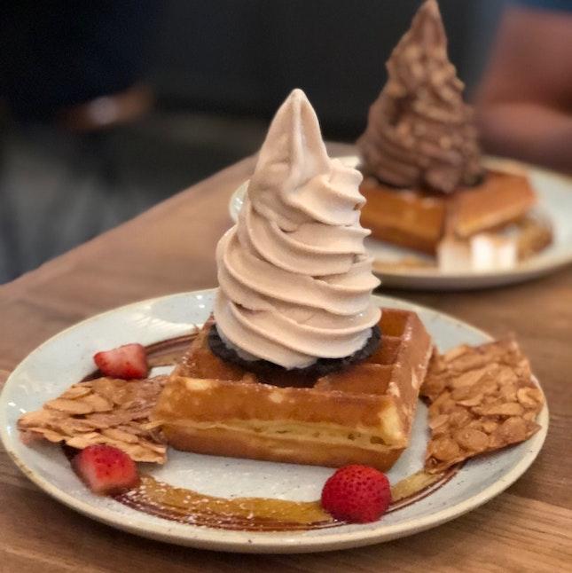 Soft Serve And Waffles
