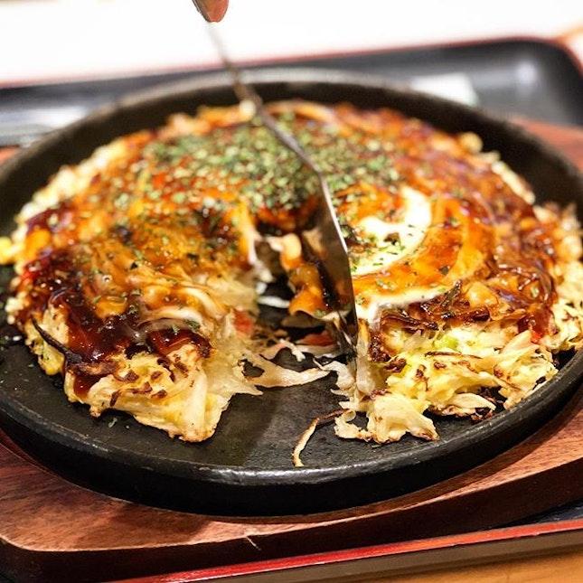Pork and egg okonomiyaki ($13)  Overall an average piece of oknomiyaki.