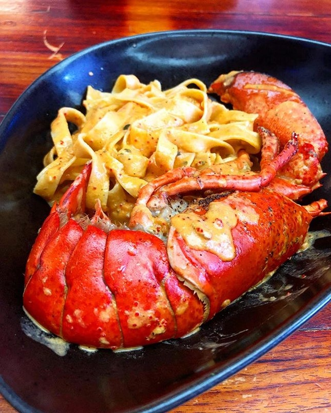 Lobster tagliatelle ($28.90)  Tagliatelle homemade pasta in a tomato and cream sauce with Boston lobster  Would say that the food here wasn't that great.