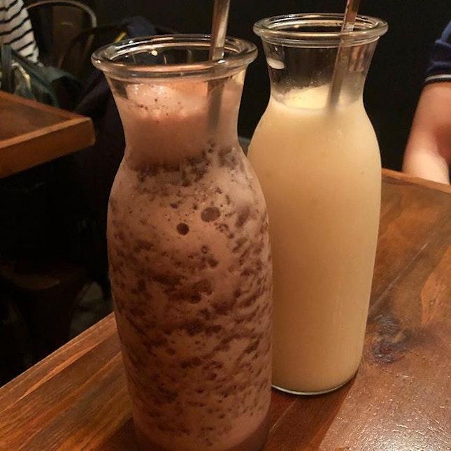 Black Forest makgeoli and yuzu makgeoli (small; $22 each)  Joo bar serves up innovative yet delicious makgeoli.