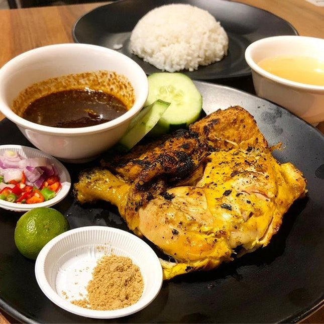 Grilled chicken set ($7.90)  Grilled to fragrant perfection, loved how the chicken here had a Smokey taste to it!