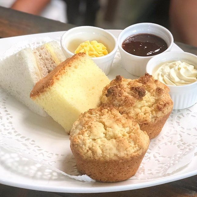 Afternoon tea set ($11.50), comes with coffee or tea.