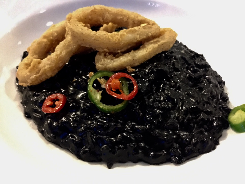 Squid Ink Risotto ($16.80)