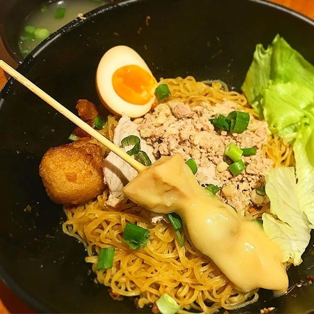 Loving this bowl of Lam's Kitchen Abalone Noodle 🍜!