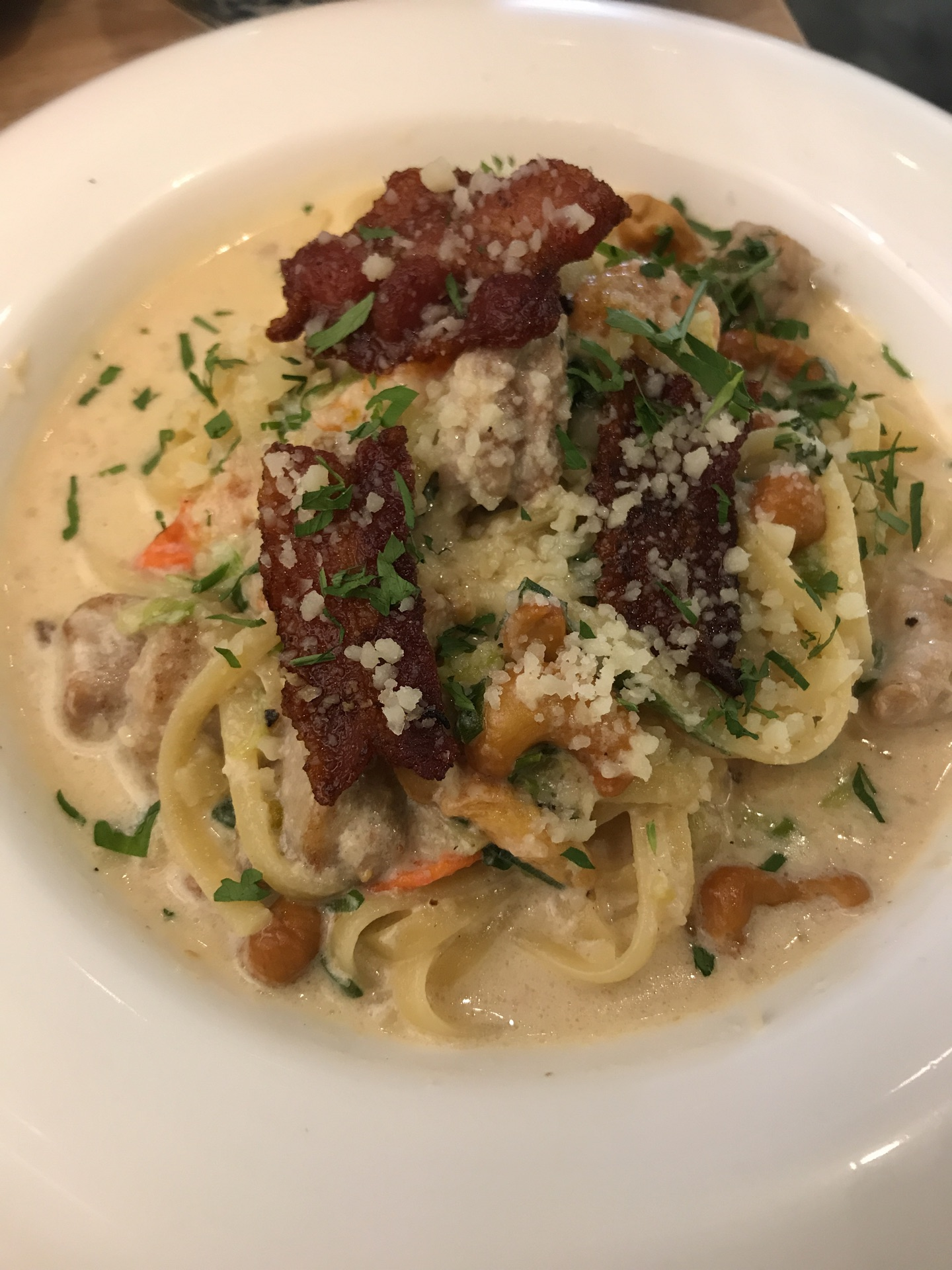Creamy Chicken And Bacon Pasta $20