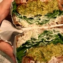 Broccoli Falafel Sandwich