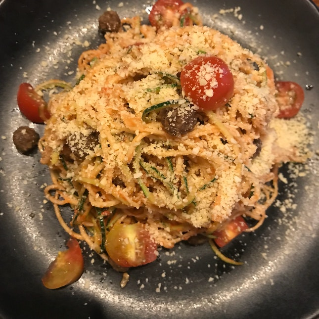 Zucchini Linguine And Mini Walnut Ballssss