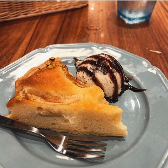 Apple Pistachio Tart