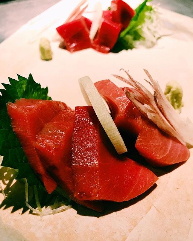 Maguro sashimi.