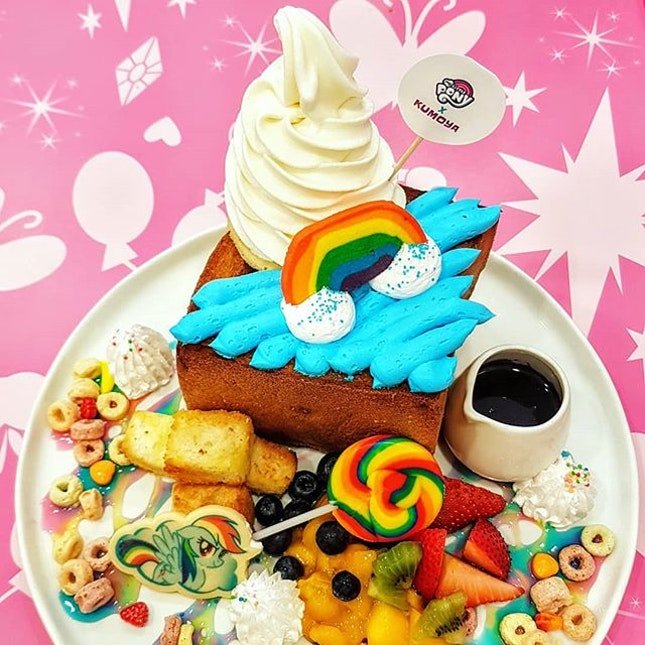 The looks on the faces of all the little kids when they see this My Little Pony themed cafe are epic!