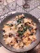 Truffle Bacon Mushroom Farfalle