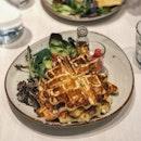 Salmon & Egg Waffle