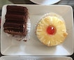 Chocolate Truffle Cake(left) and Pineapple Tartlet(right)
