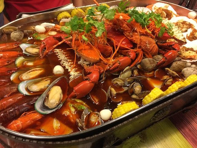 小辣 Seafood platter!