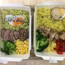 Interesting rice choices with not so tasty proteins