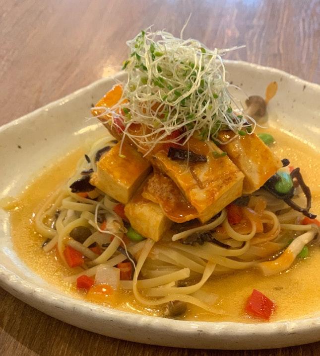 Tofu Red Miso Pasta