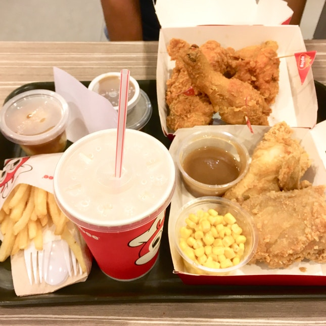 Jollibee: A Gift From Above, A Feast For The Gods 😍 Joyful Chicken Set ($7.25)