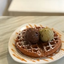 Roasted Pistachio & Stout Chocolate W/ Waffles ($11.80)
