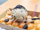 Egglet Waffle With Kopiko Crunch