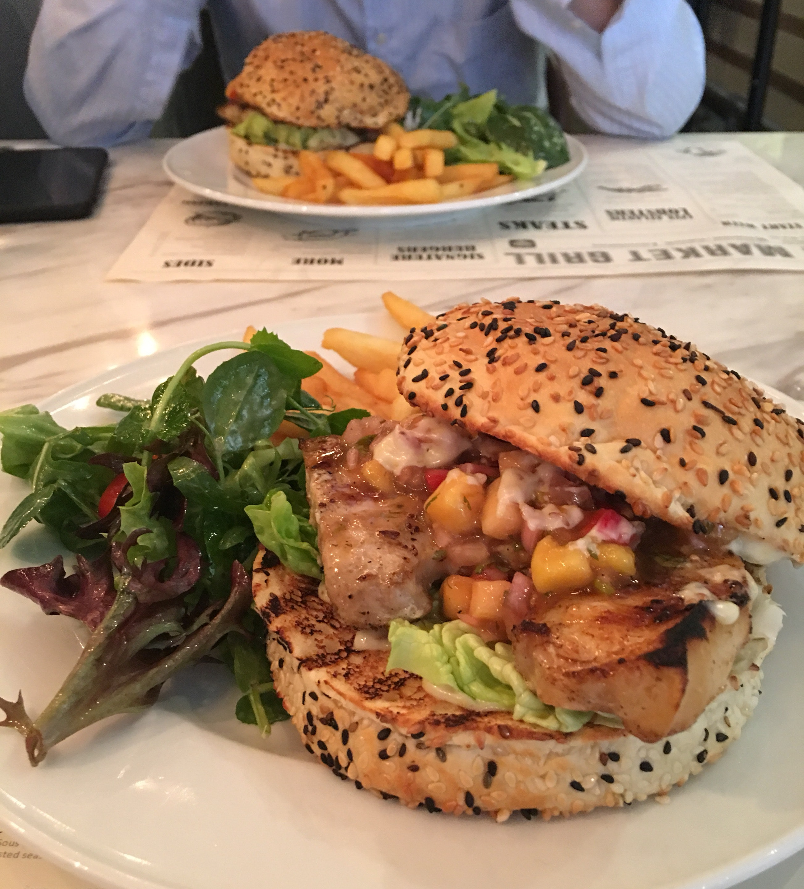 Swordfish Burger ($26)