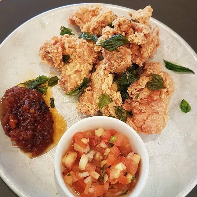 Cincalok Chicken at Chocha in Chinatown (good alliteration?🤭)