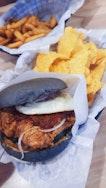 Nasi Lemak Ayam Rendang Burger