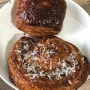Savoury Scroll & Chocolate Croissant $4.50ea