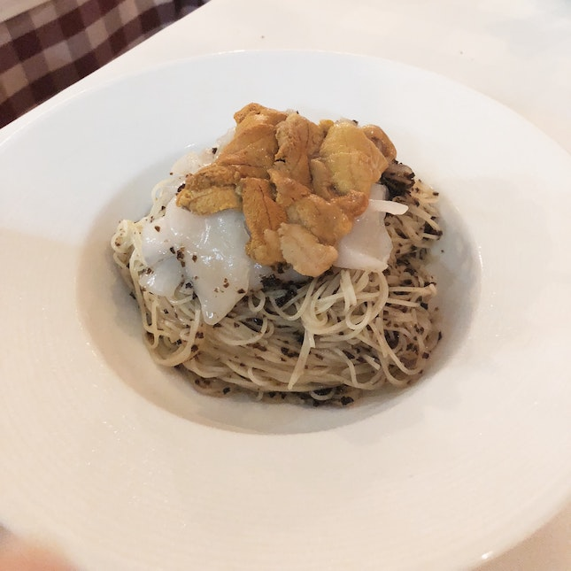 Cold Capellini With Truffle Emulsion