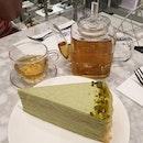 #tb evening date with @syfffq 😍 pιѕтαcнιo мιlle crêpe (seas0nal) ✕ ѕнιѕo мιɴт тeα (caffeine-free) 0f l0vely 🍰&🍵 • • • • • • • • • • #ladym #ladymsg #cafehopping #cafehoppingsg #cafesg #sgcafes #sgcafefood #sgfood #sgfoodie #sgfoodies #sgeats #sgeatout #sgig #igsg #foodporn #foodspotting #foodinsing #foodie #instafoodsg #dessertsftw #8dayseat #jiaklocal #burpple #burpplesg #swweats #hungrygowhere #whati8today #eatbooksg #millecrepe
