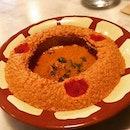 Muhammara - walnut spread wth roasted peppers and olive oil.