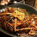 凉皮(glass noodles) with crab roe - an interesting reminder of char kway tiao (without the cockles) #burpple
