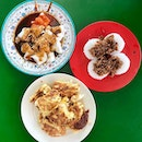 Breakfast staples of Carrot Cake, Chwee Kueh and Chee Chong Fun