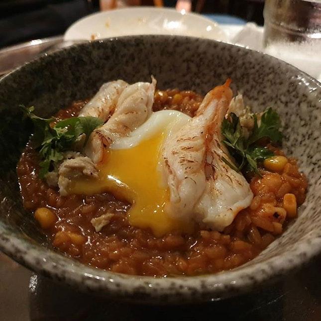 Chili crab risotto was simply delicious.