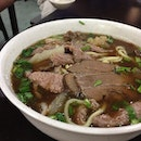 Lean beef, beef tendon, beef stomach, raw beef and noodles...