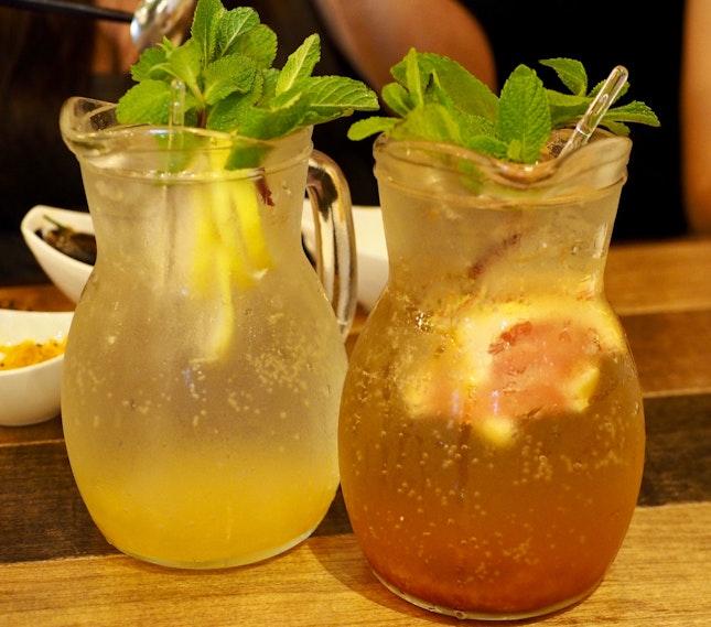Citrus (left) & Grapefruit (right) Teas (1L - $12.90 / 500ML - $7.90)