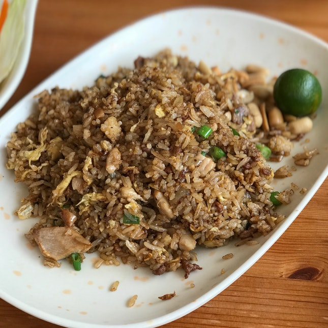 Black Olive Fried Rice W/ Minced Chicken - $6.00