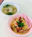 Wanton Mee (Lrg) + Shrimp Dumpling Soup (Sml) - $10