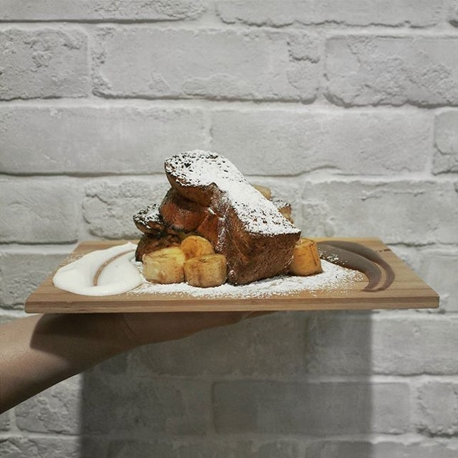Brioche French Toast with caramelised banana [$10].