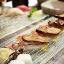 #Dinner 2 Saturdays ago: @hakumai_omakase 's signature #foiegras raw shrimp #sushi was still just as good as I remembered!
